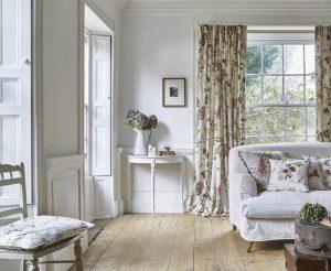 floral designed curtains