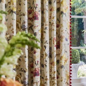 curtains with pom pom trim