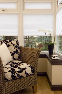 white blinds for conservatory
