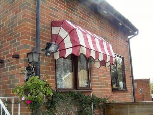 outside canopy red and white