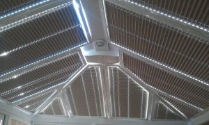 conservatory automatic blinds for the roof