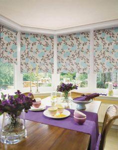 flower designed roller blinds