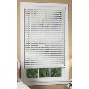 faux wooden blinds