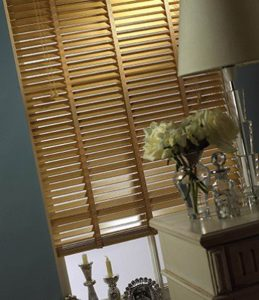 faux wooden blinds for the living room