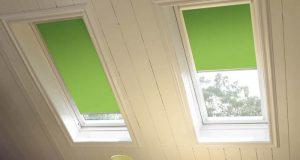 velux window green blinds