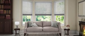 white wooden blinds in the lounge