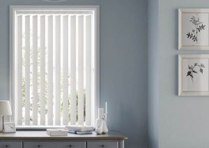 white vertical blinds Peterborough