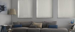 vertical blinds in lounge