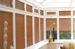 wooden blinds conservatory